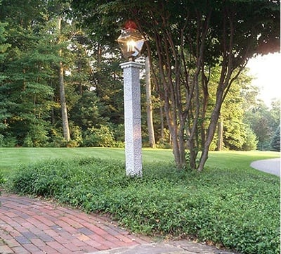 Lantern posts catalog avo fence supply granite lantern post with pinapple finish mozeypictures Image collections