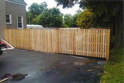 Brewster Capped - Cedar Fence