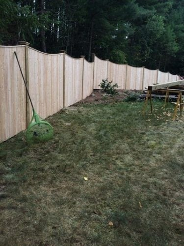 Gloucester Scalloped with Capstrip - Cedar Fence