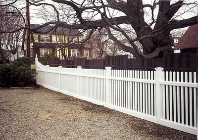 Chestnut Hill Transition Panel - Cedar Fence