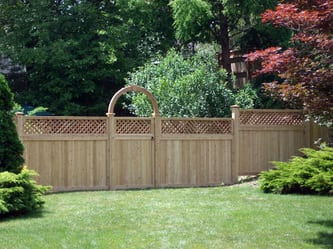 Hamilton with Lattice Accent and Halo - Cedar Fence
