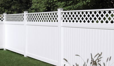 New Lexington Vinyl Fence with Lattice Accent