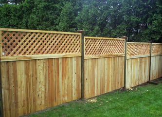 Hamilton with Lattice Accent - Cedar Fence
