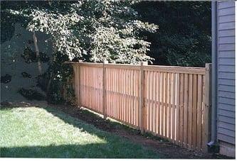 Hudson with Fascias - Cedar Fence