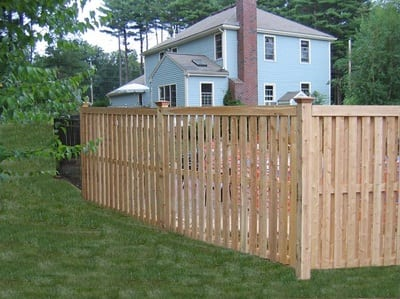 Hudson with Fascias - Cedar Fence