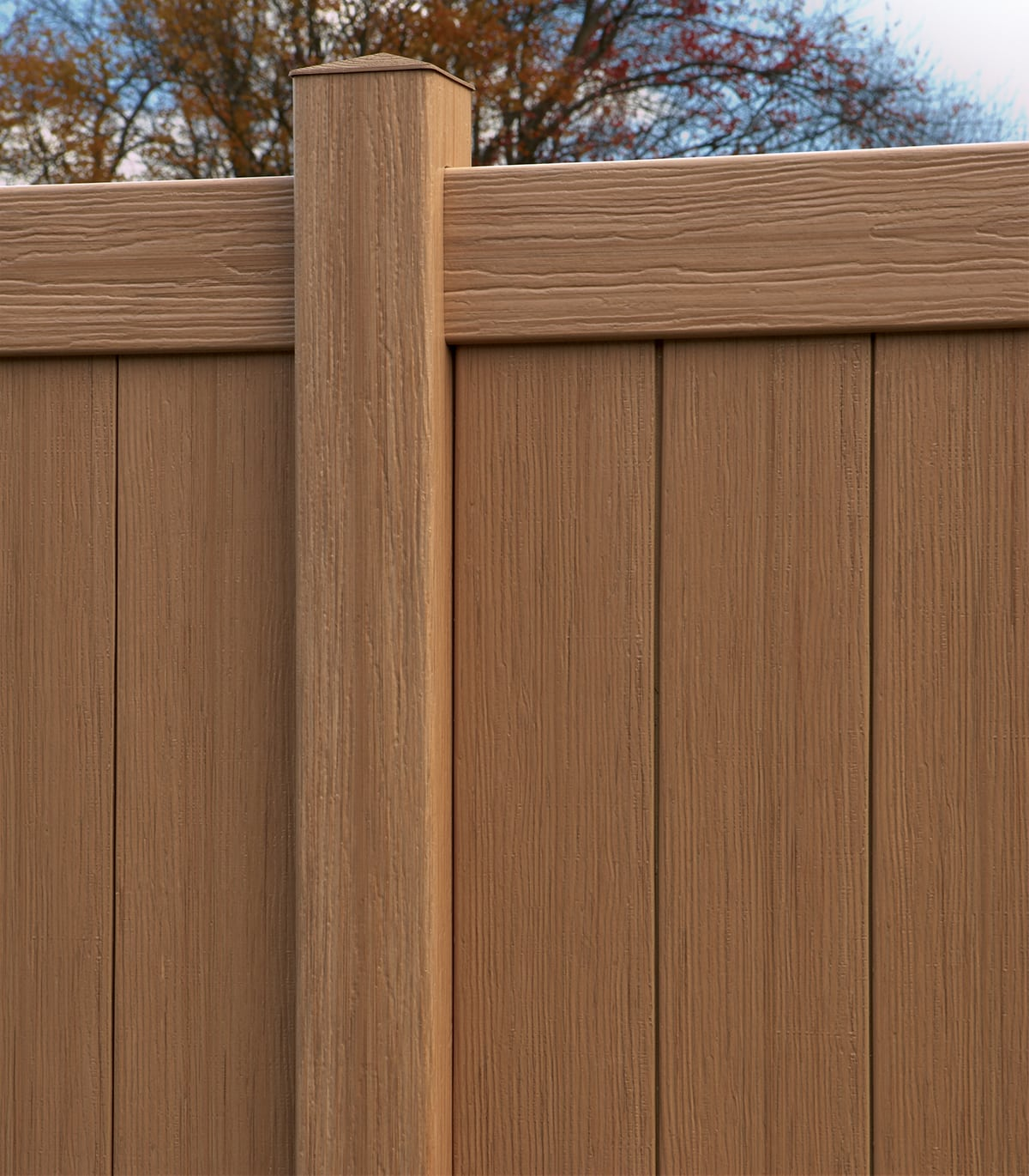 Bufftech Chesterfield Vinyl Fence With Certagrain Texture