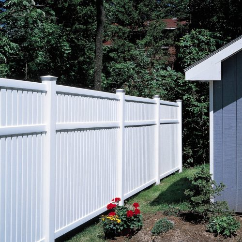 Partial privacy fence for back or side yard