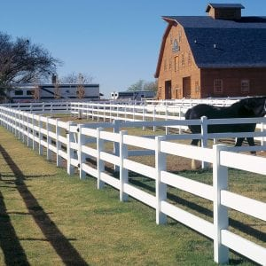 Bufftech, vinyl fencing, commercial fencing