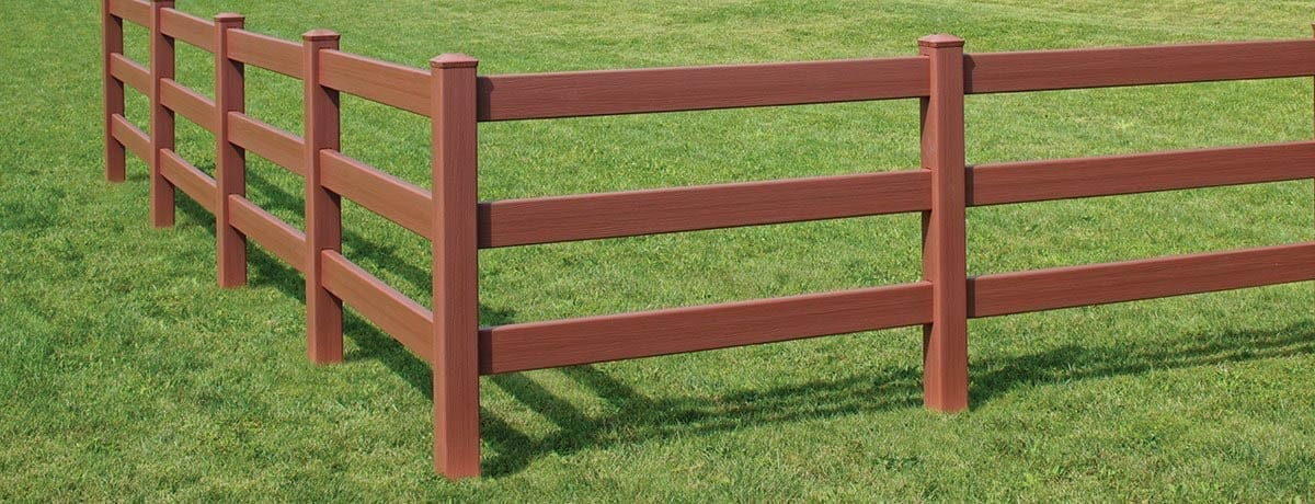 Bufftech Certagrain 3 Rail Post And Vinyl Fence 1200
