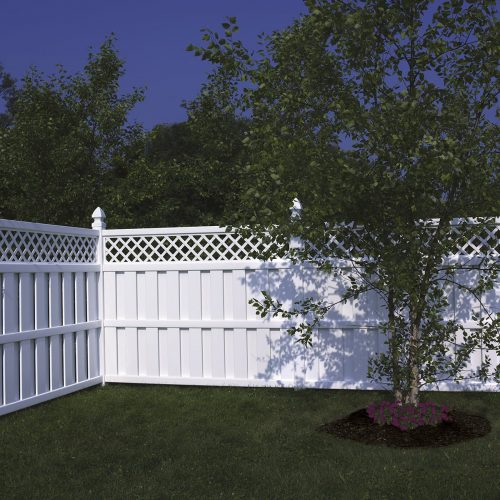 Bufftech Vinyl Fence with Lattice on Top