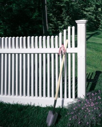 White vinyl fence - Chestnut Hill style