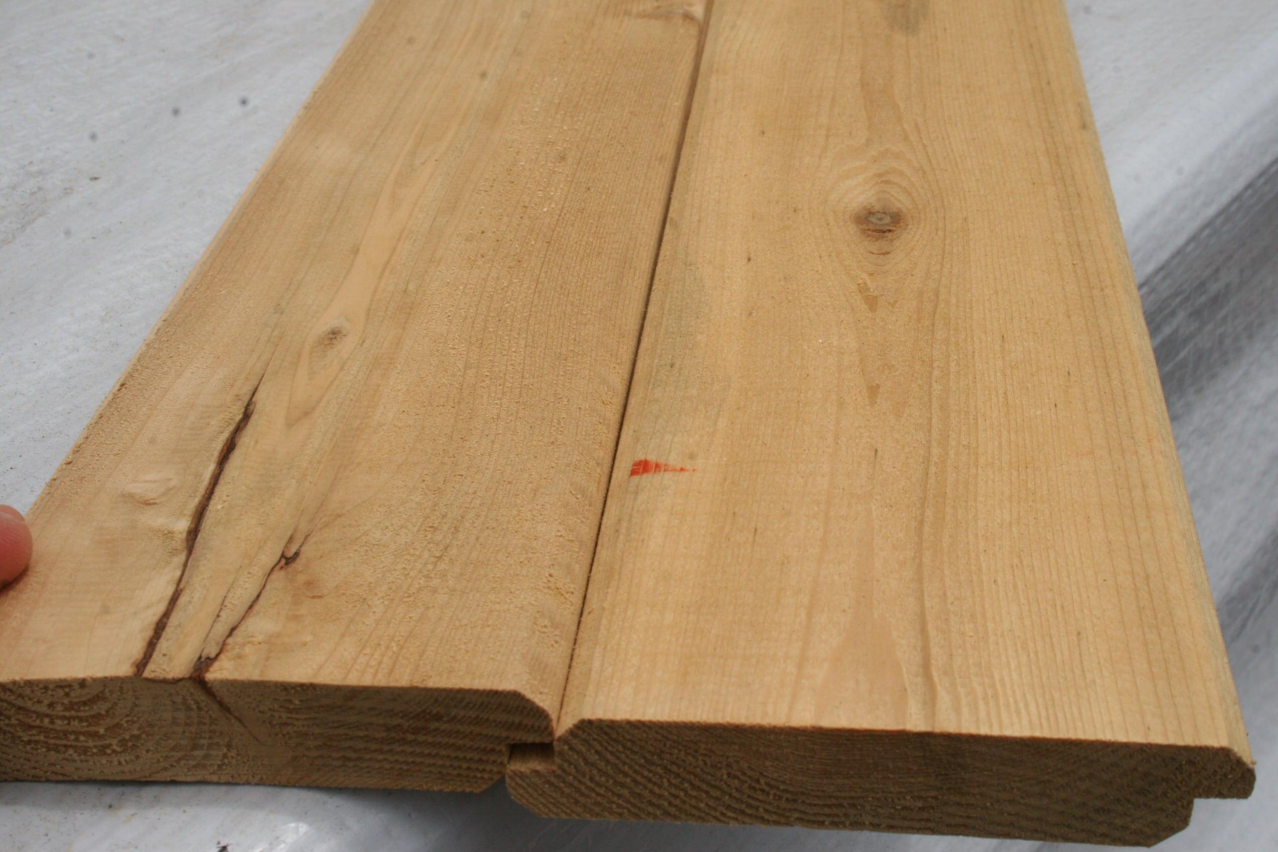 1x4 Shiplap V Groove Northern White Cedar Lumber Avo