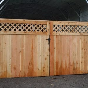 commercial fence, cedar